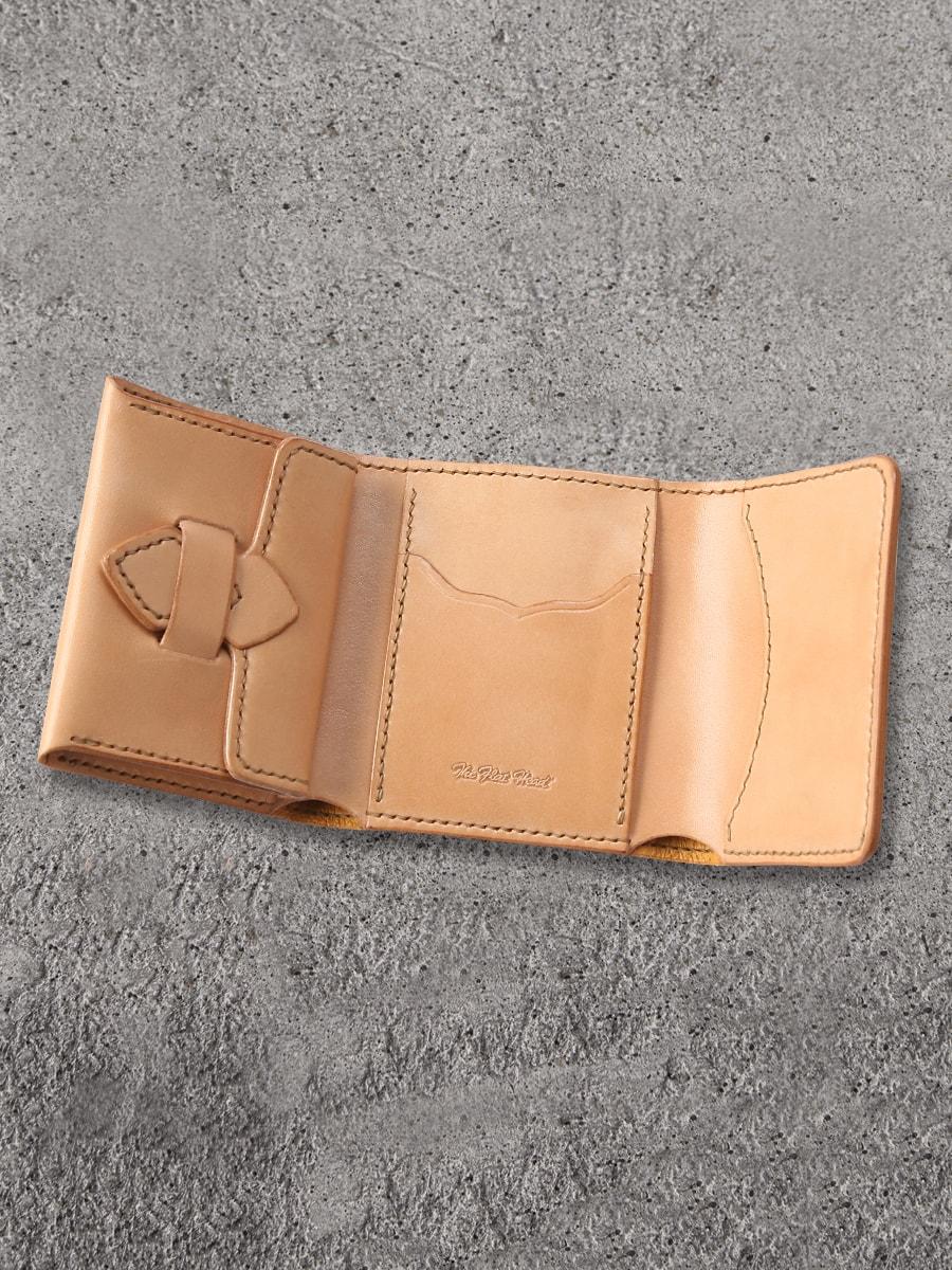 多脂革 三つ折 ミニ ウォレット FN-WSN3-4S