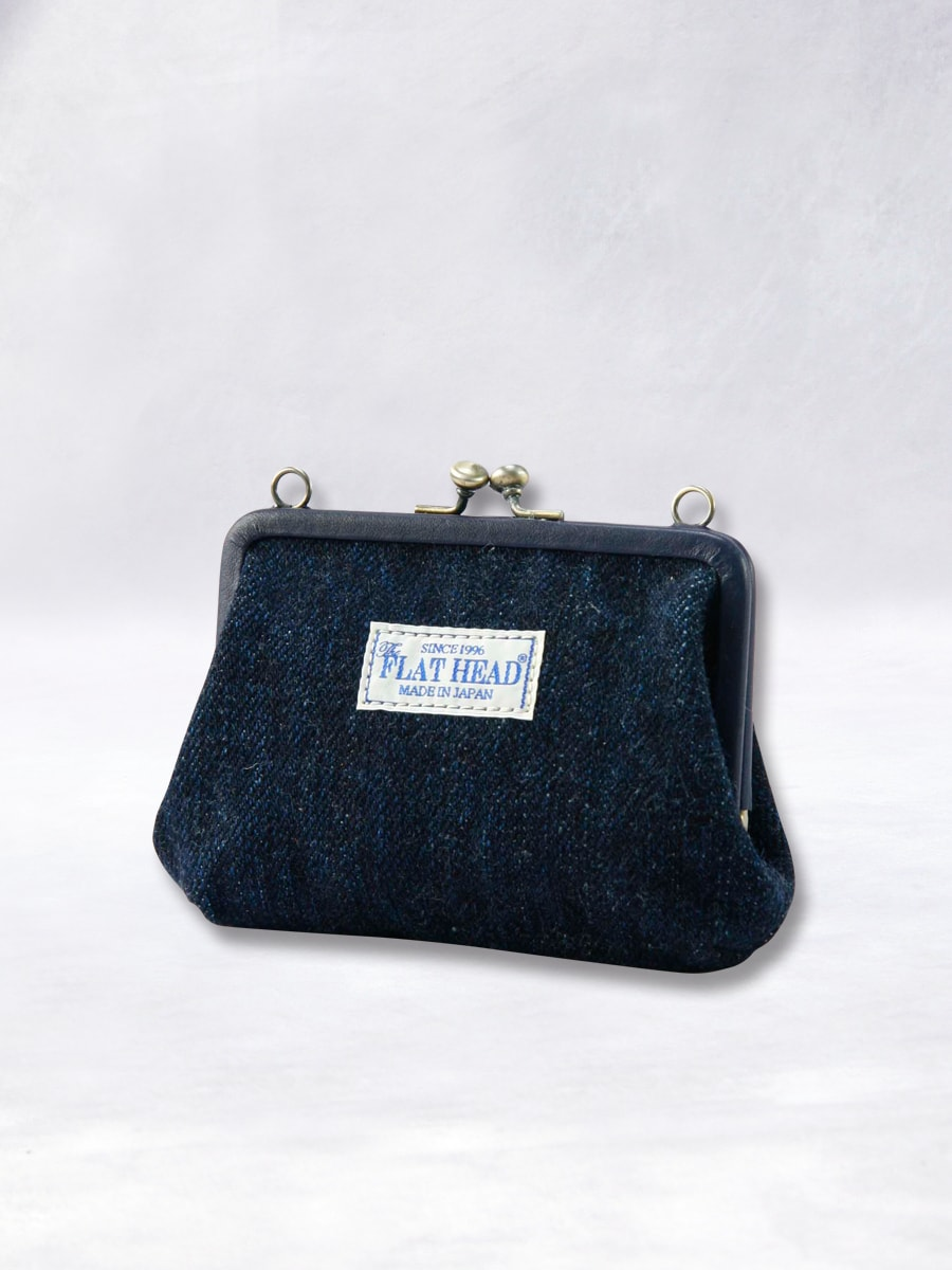 デニム がま口 財布 Lサイズ FN-WG-001