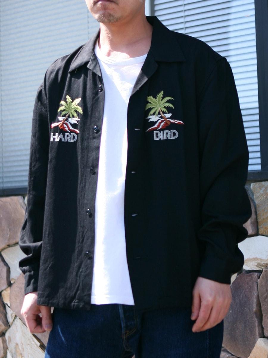 ハードバード パームツリー刺繍 レーヨンシャツ HB-SRO-001L