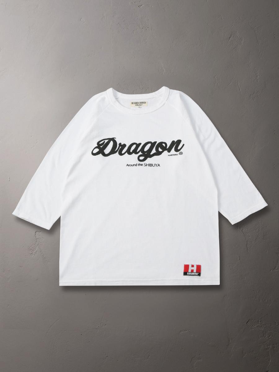 ハードバード 吊り生地 七分袖 Tシャツ SHIBUYA Dragon HB-TLRB-001