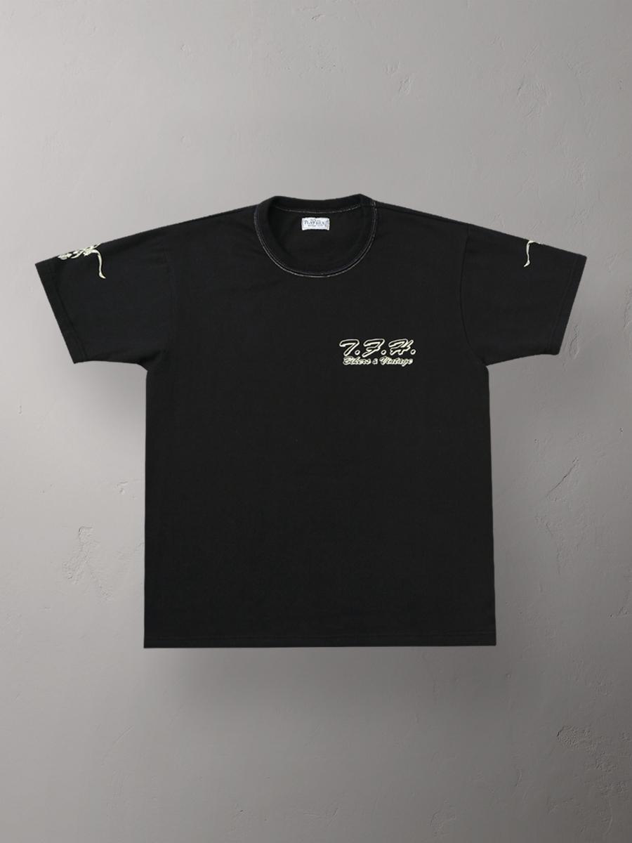 3本針の1本外し Tシャツ FN-THC-015